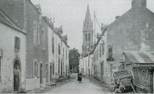 La grande rue dans les années 1930 (vue du côté sud)