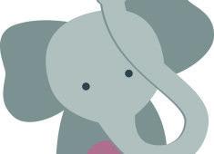 Elephant icone baby-sitting